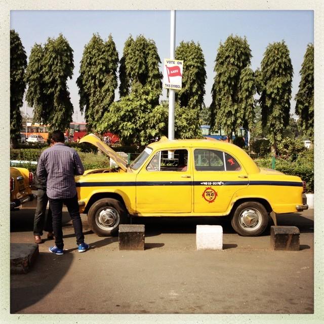 Taxi am Flughafen Kolkata