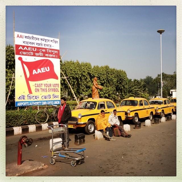 Taxistand Flughafen Kolkata