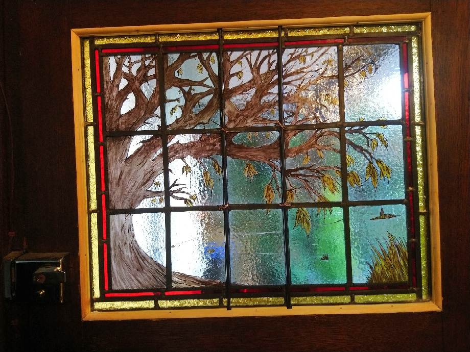 Front Door Tree design - rossglassdesigns