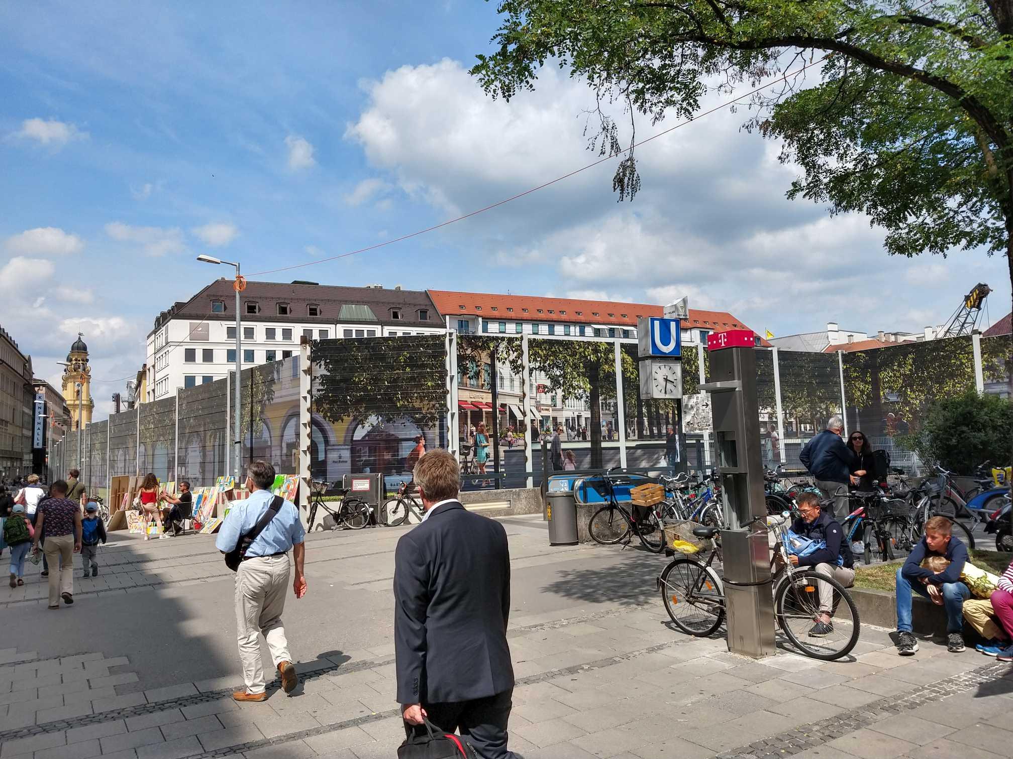 Marienhof, S-Bahn-Baustelle