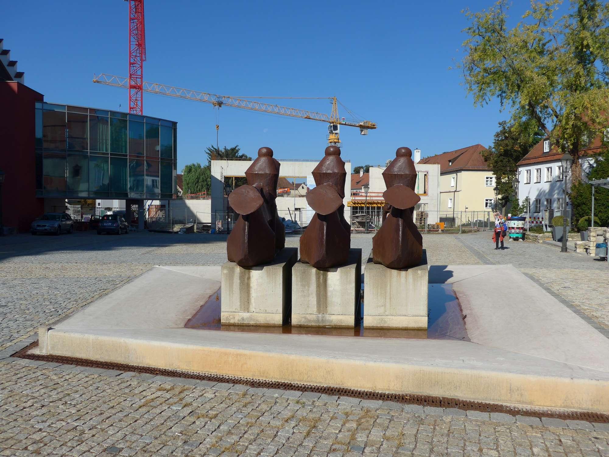 Fischer Skulptur: 3 Reiter