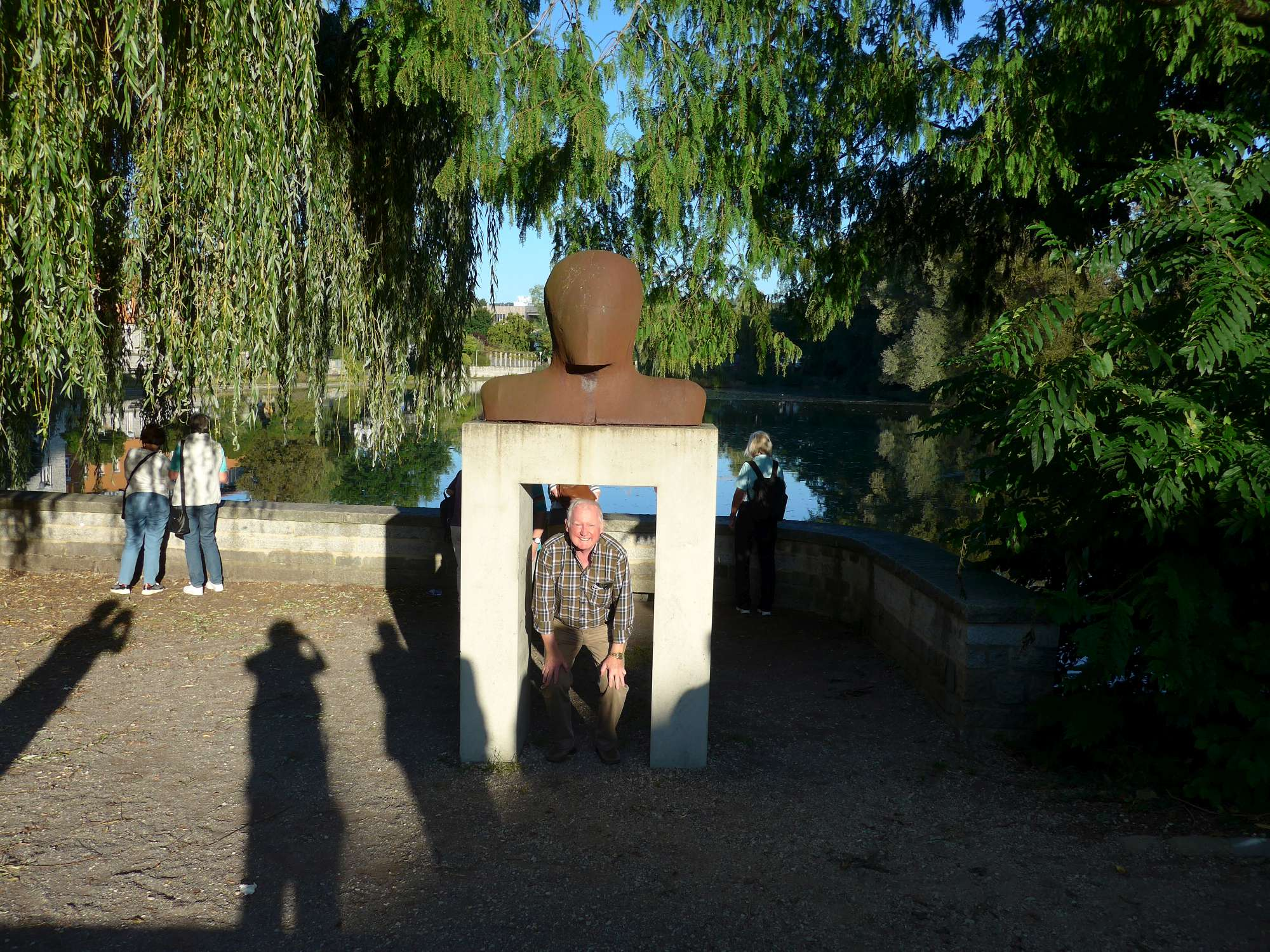 Fischer-Skulptur am Stadtpark