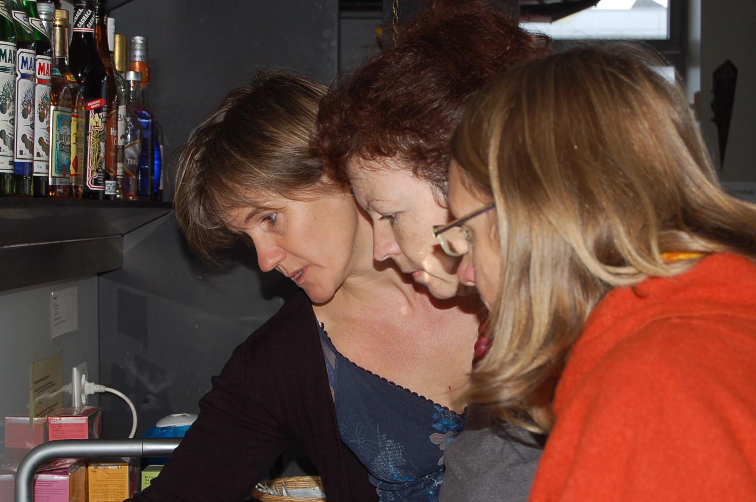 Janine, Claudia und Heidi