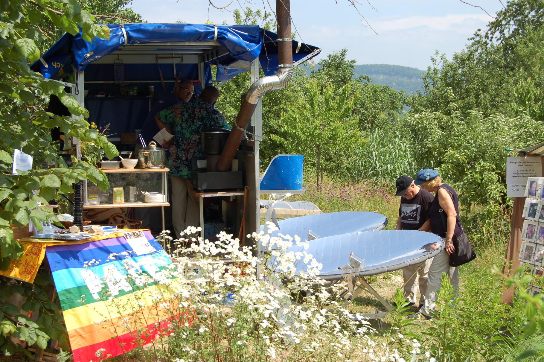 SolarKüche an der Permakulturtagung 2011, Aargau