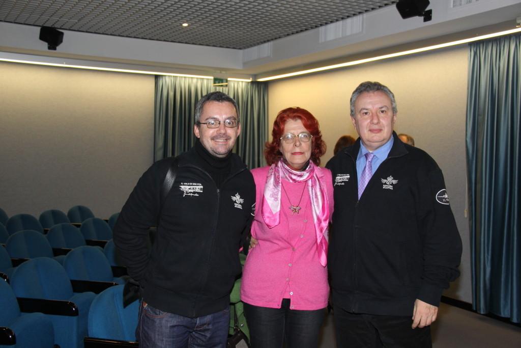 Davide Pizzolato con la Consigliera Provinciale e Regionale Caterina Dominici nonchè attrice nel docufiction e il regista Mauro Vittorio Quattrina