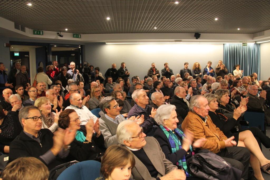 Museo dell'Aeronautica Gianni Caproni, l'attesa della presentazione e proiezione del Docufiction