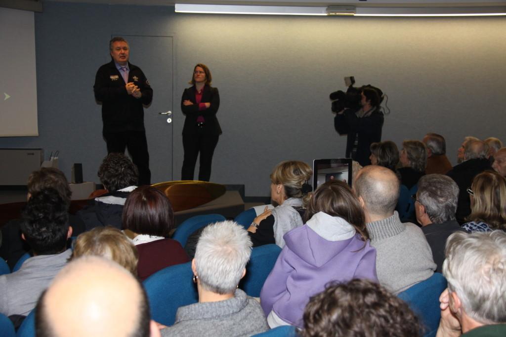 Il regista Mauro Vittorio Quattrina e la dott.ssa Neva Capra