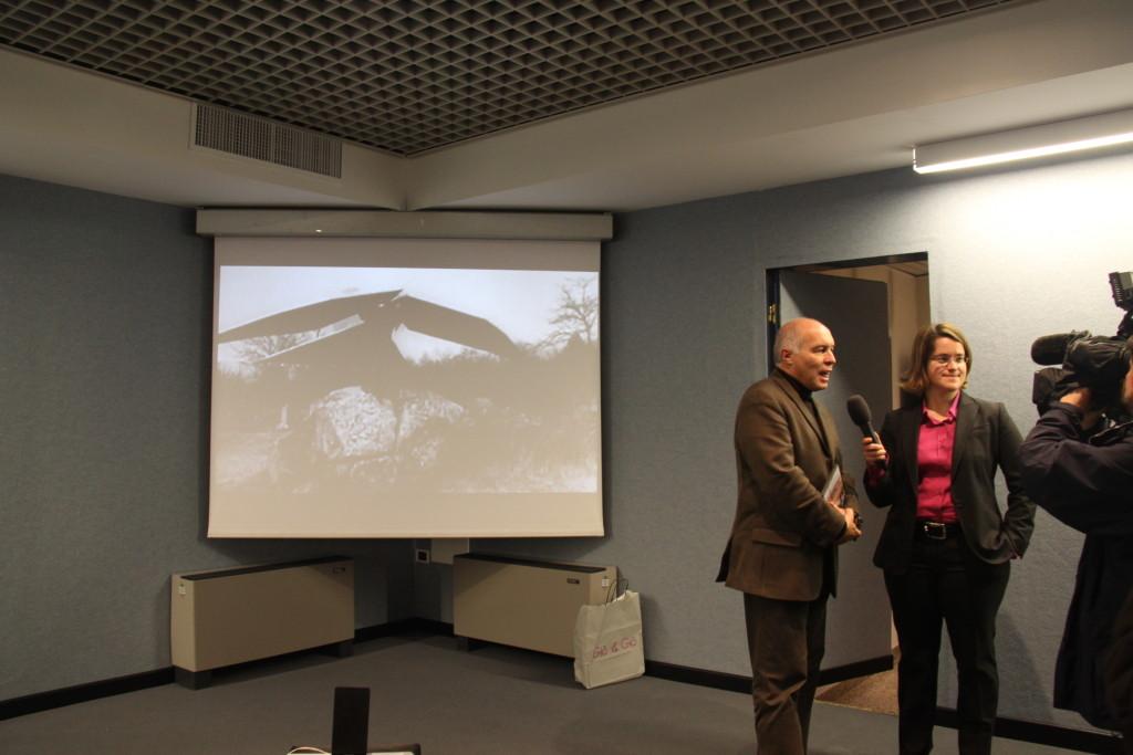 Assessore alla Cultura della Provincia Autonoma di Trento, Franco Panizza con Neva Capra