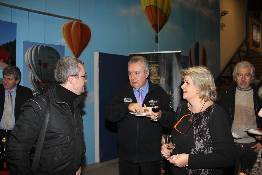 Davide Pizzolato con Christine Moncherio e il regista Mauro Vittorio Quattrina