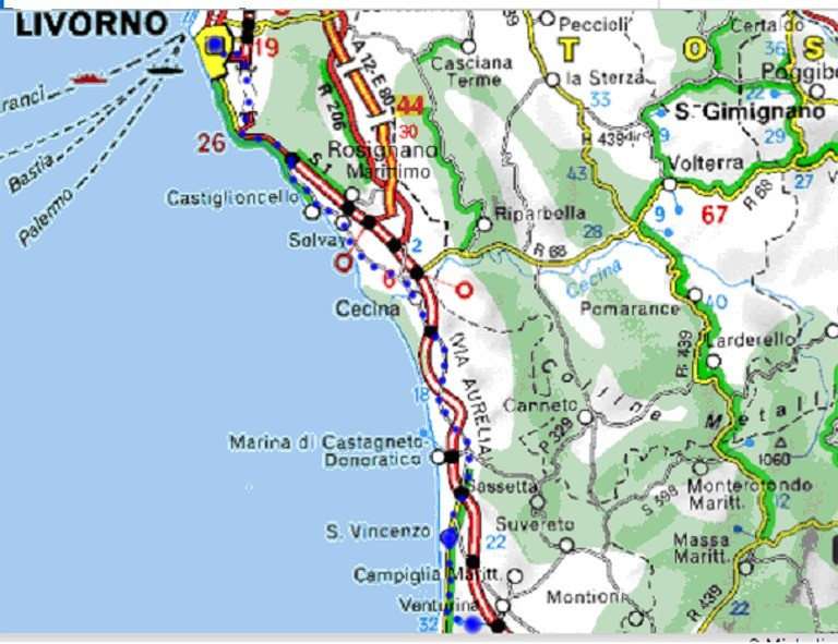 Fahrt nach Livorno