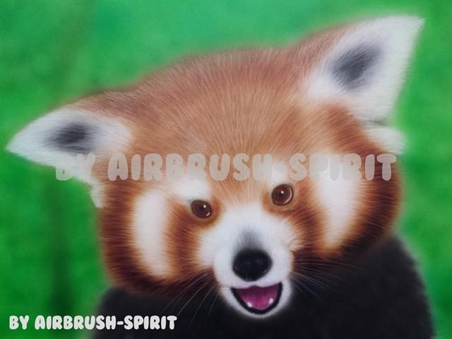 Roter - Panda - 04/2014 - auf Airbrush-Karton