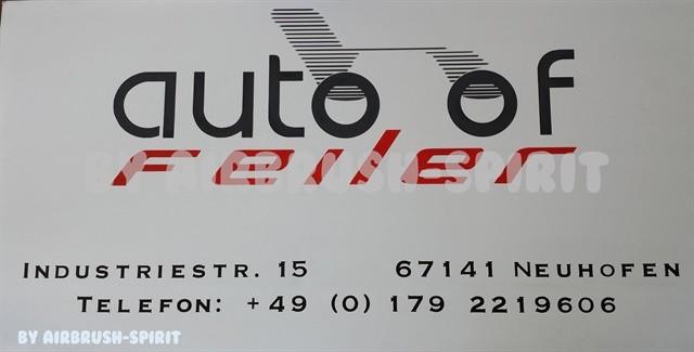 Werbetafel Autohof Feiler - 09/2014 - auf einer Alu-Dibond-Platte
