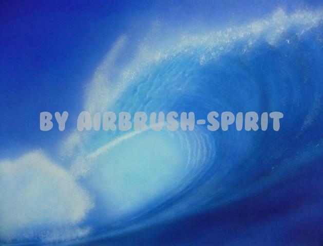 Die Welle - 09/2012 - auf Airbrush-Karton