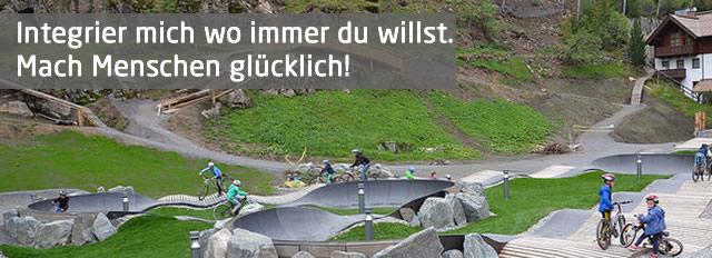 Die größte Pumptrack Skill Area Österreichs in Sölden. Magnet für Kinder und Erwachsene.