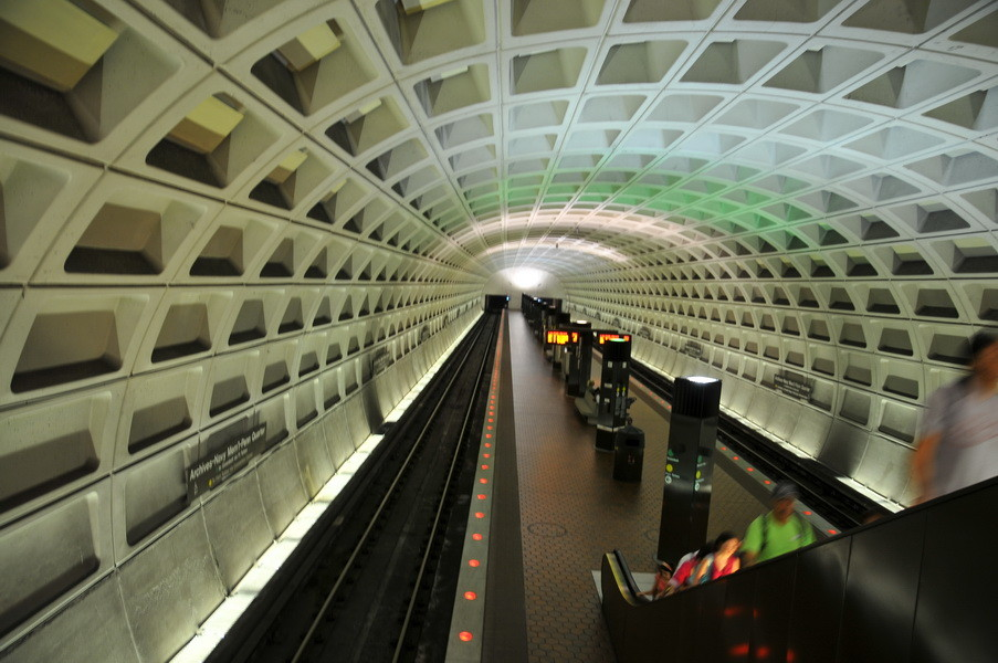 Metro Staion in Washington, sehr düster