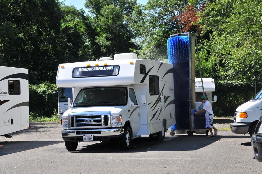 Mobile RV Waschanlage