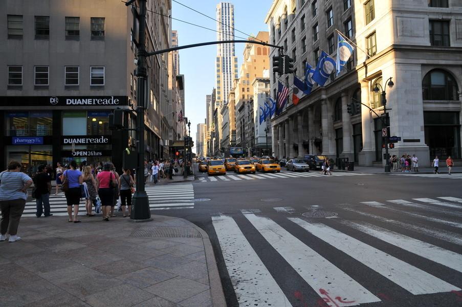 Das erste Bild, am Fuße des Empire State Building