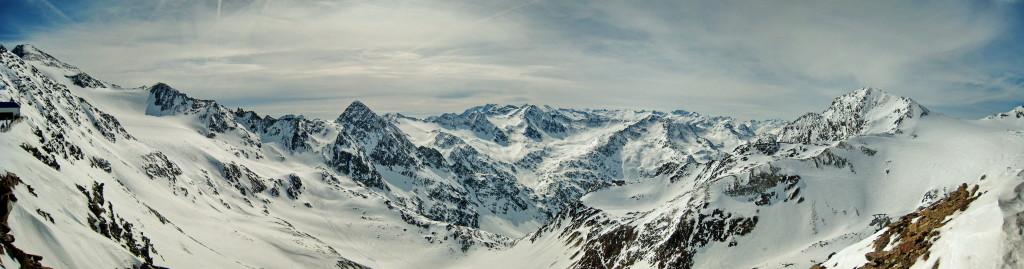 Blick vom Pfaffengrat nach Südtirol