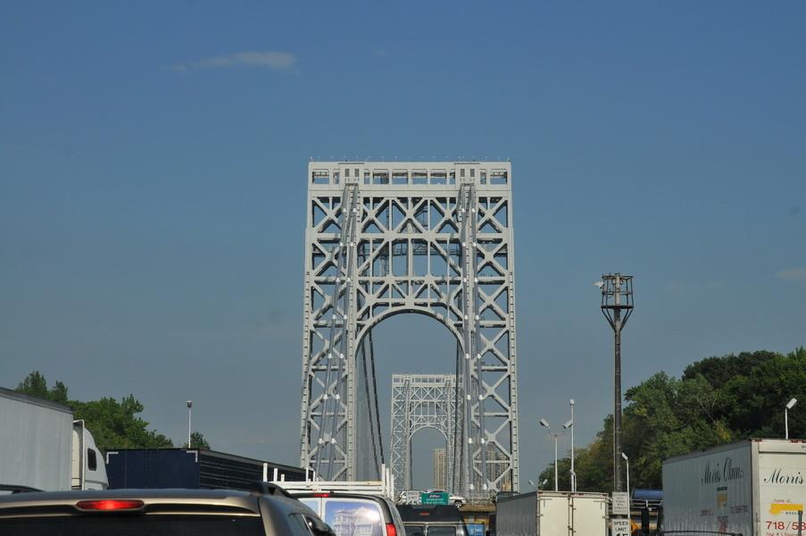 Brücke über den Hudson River Interstate 95, 14 Fahrspuren