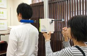 身体のライン計測の写真