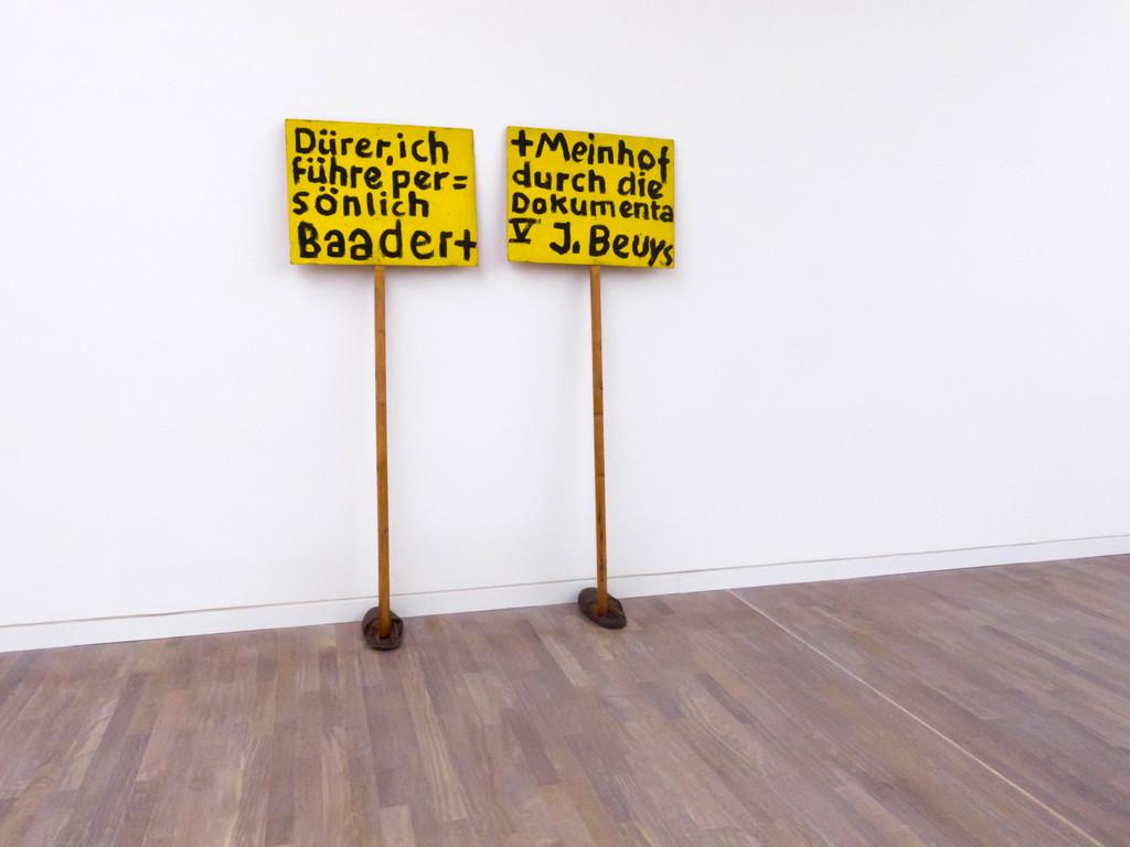 Dürer, ich führe persönlich Baader + Meinhof durch die Dokumenta V 1972
