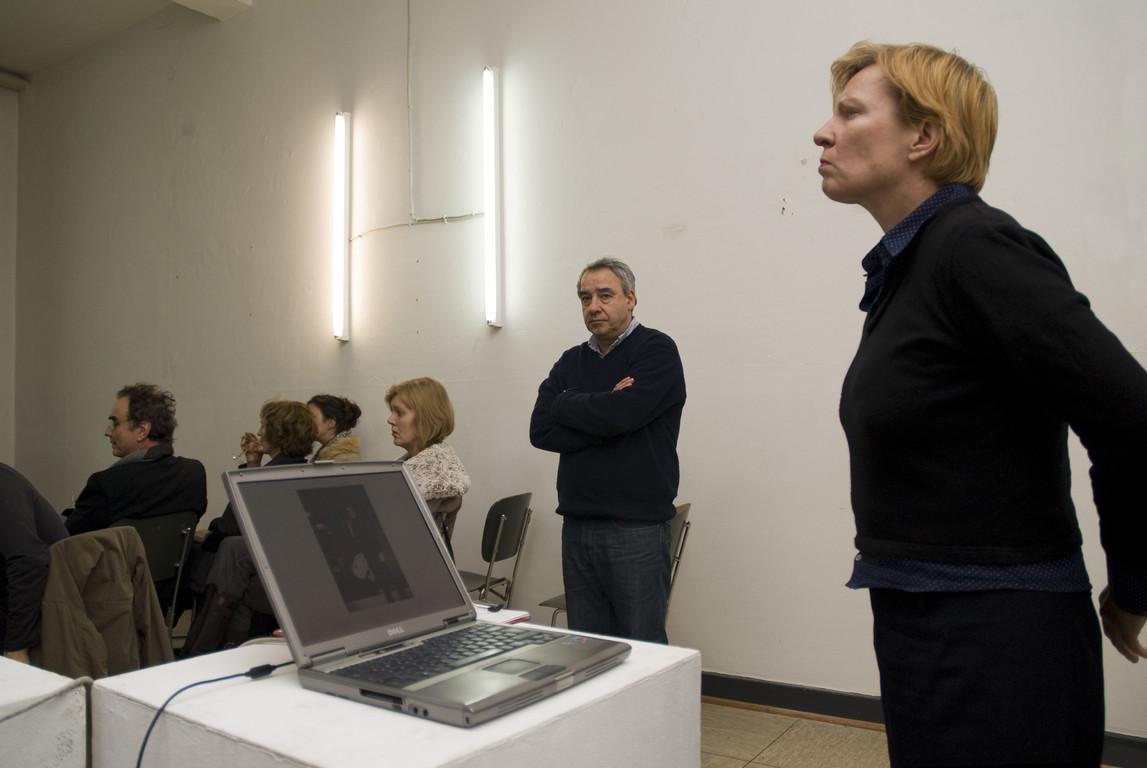 Eva Schmidt während des Vortrags