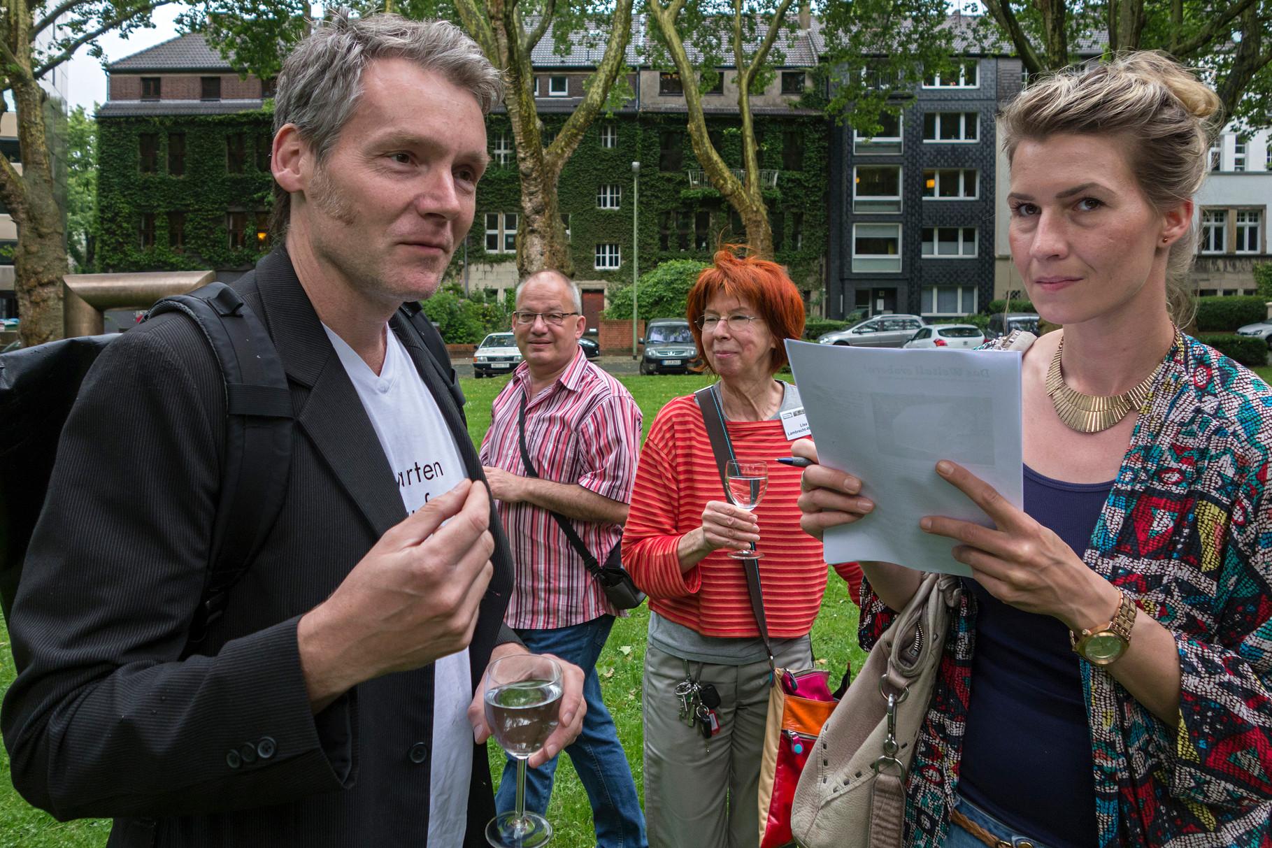 Frank Bölter beim Interview für WAZ/NRZ, 22.5.2014