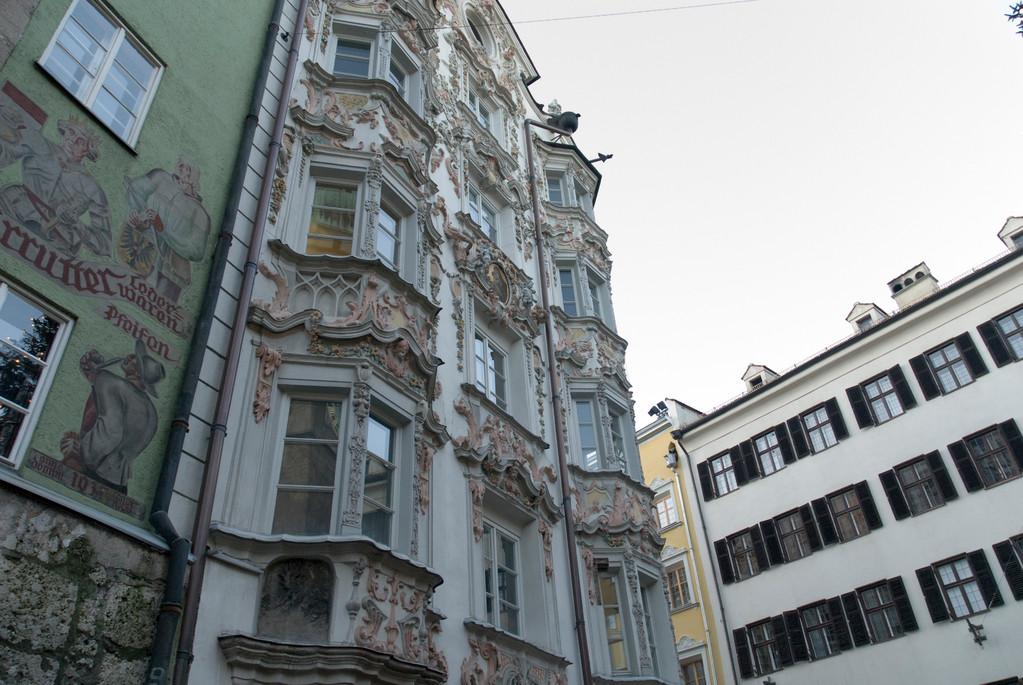 Innsbruck - Helbinghaus 15. Jh., Fassade um 1732