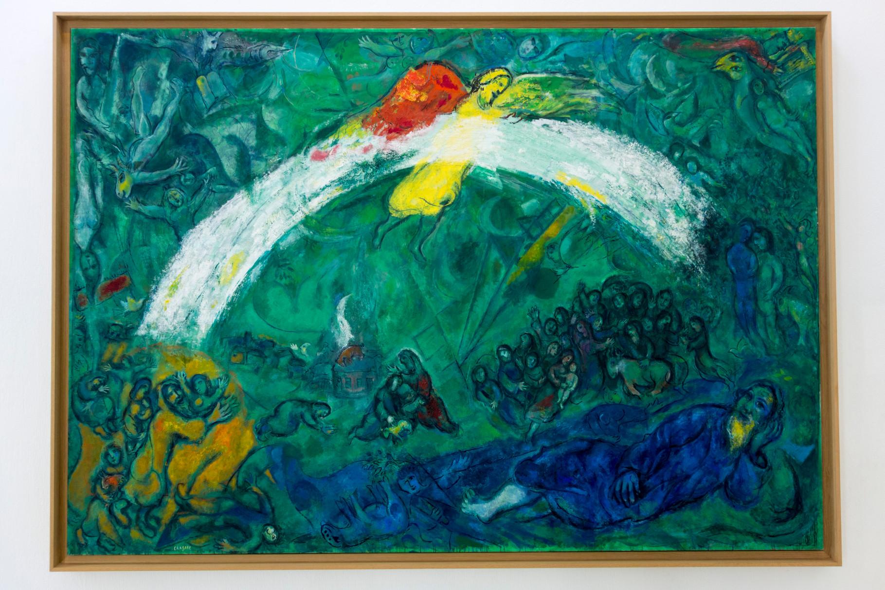 Noah und der Regenbogen, 1961-1966, Öl auf Leinwand