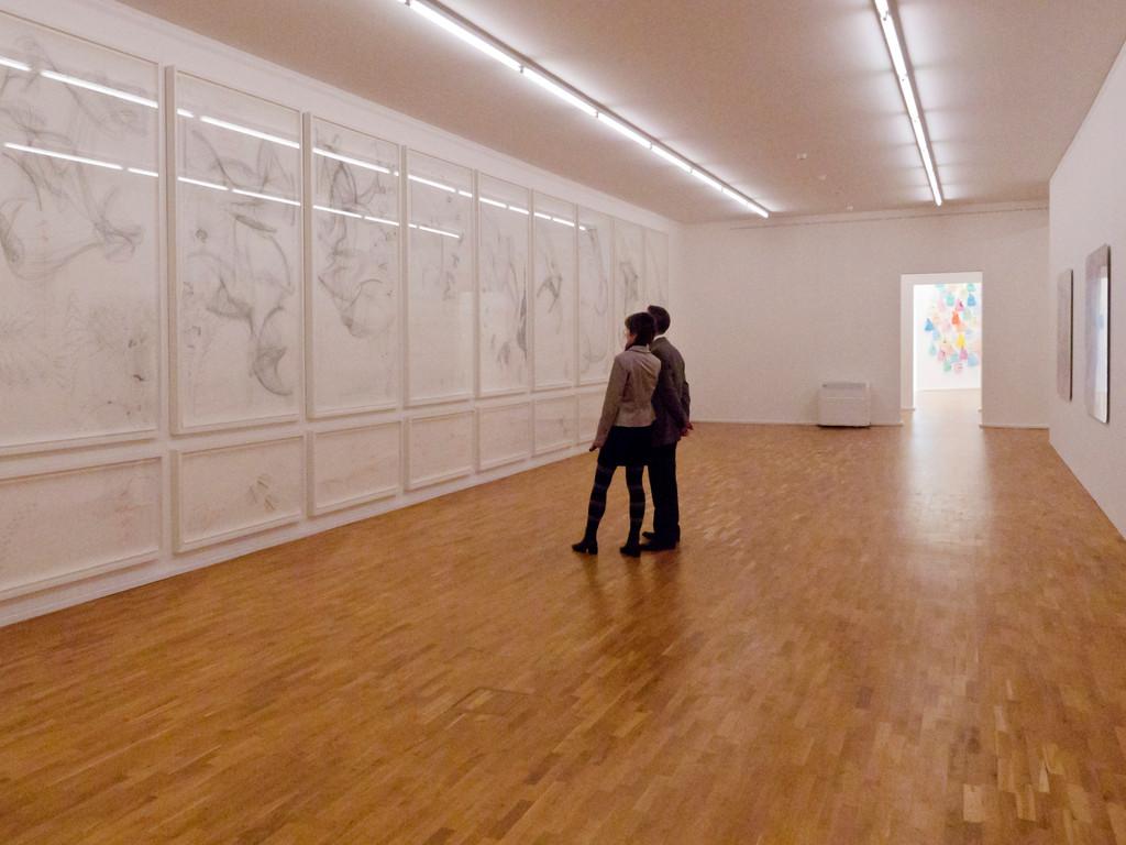 Blick in die Ausstellung mit Jorinde Voigt, STAAT/Random I-XI, 2008
