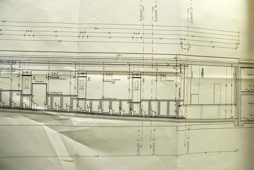Plan für den Ausbau des Kinosaals