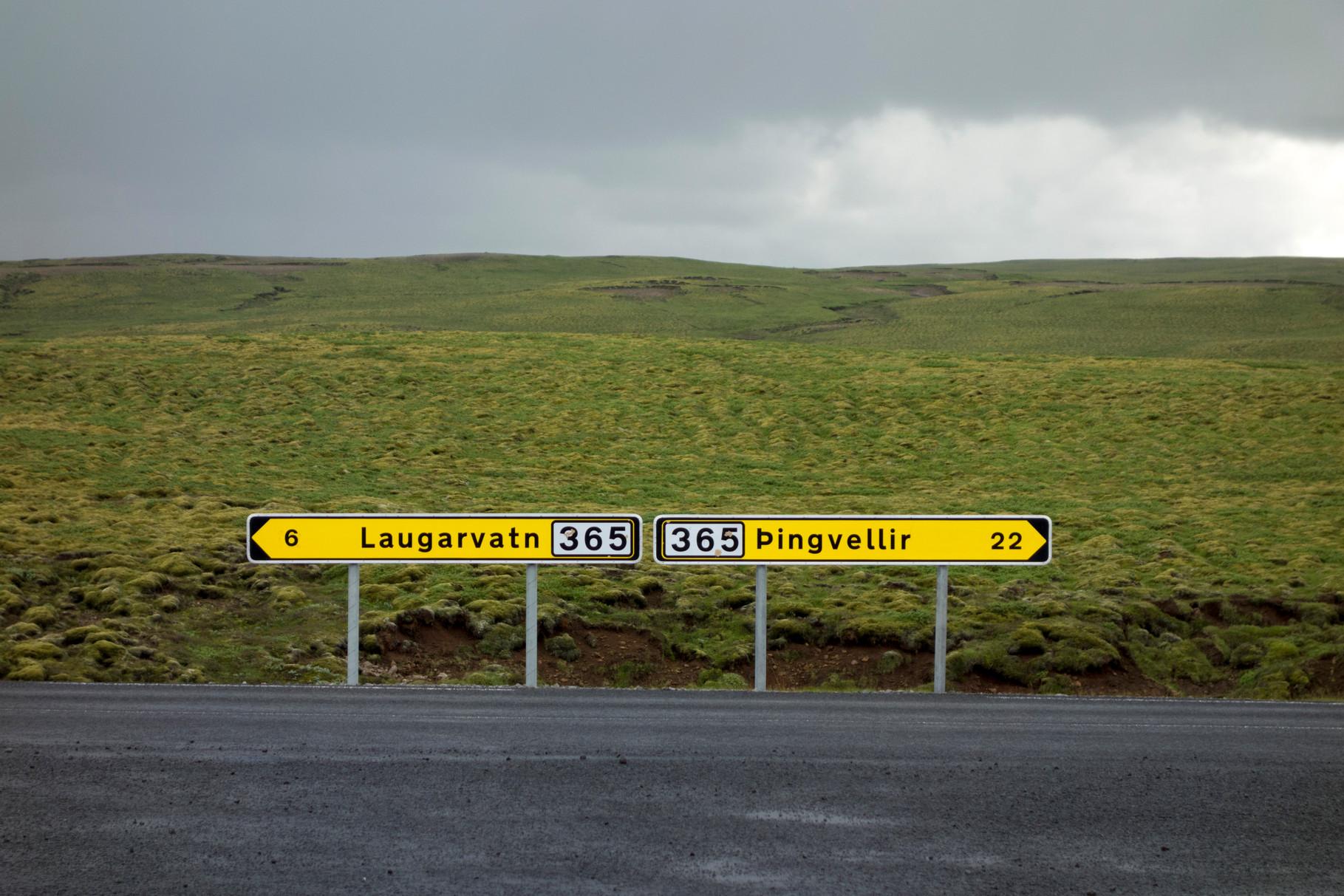 Landschaft auf der Fahrt zum Geysir Strokkur