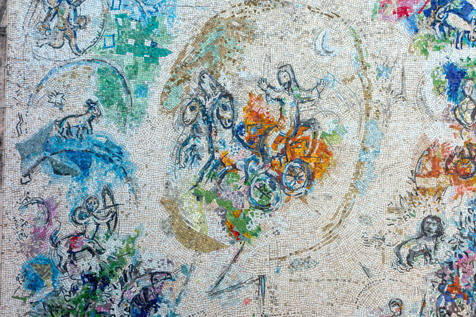 Der Prophet Elias, 1971, Mosaik (Ausschnitt)
