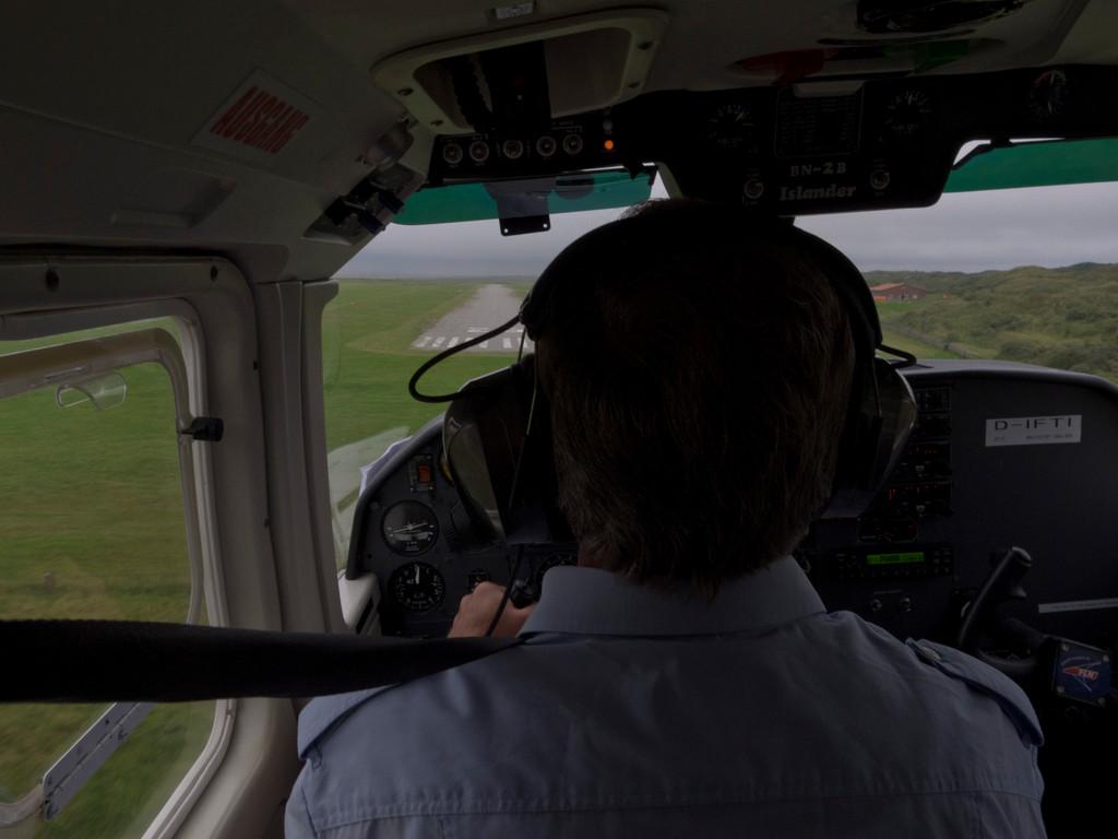 Landeanflug auf Juist