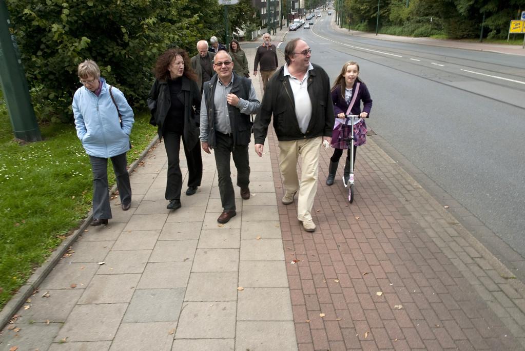 Die Atelierhaus-Gruppe an der Zweigertbrücke