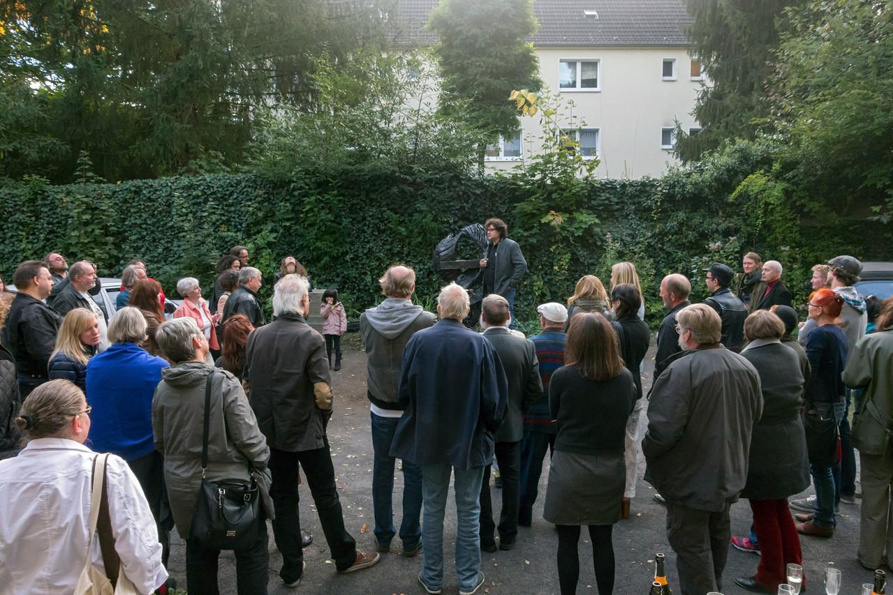 Einweihung der Skulptur von Ulrich Krämer