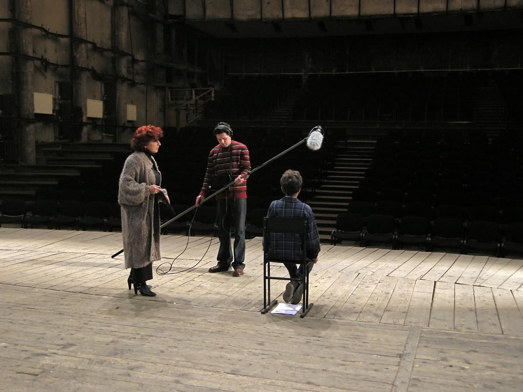 Dreharbeiten im National Music Theatre