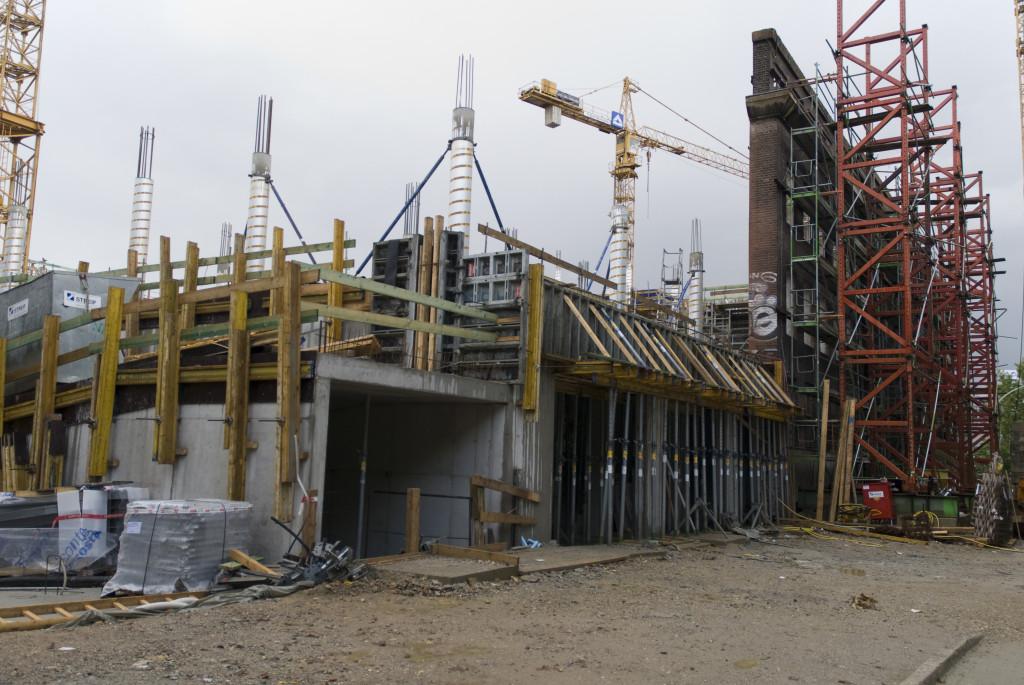 Der Eingangsbereich nimmt Form an, Oktober 2008
