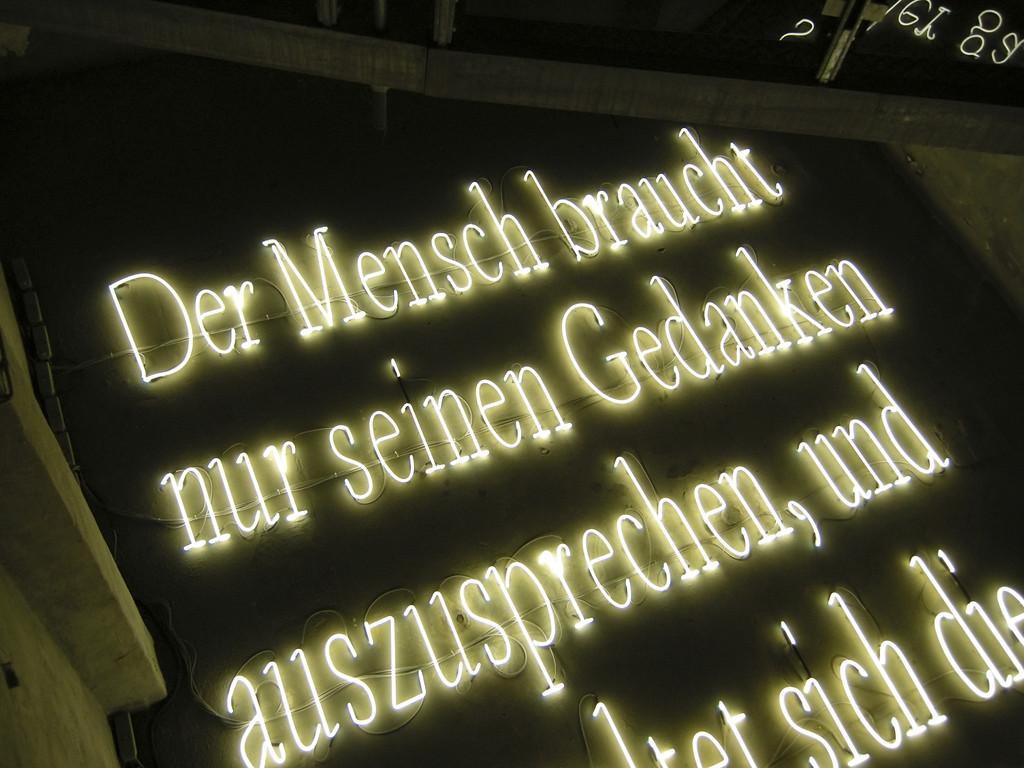 Joseph Kosuth: Die Signatur des Wortes (Licht und Schatten)