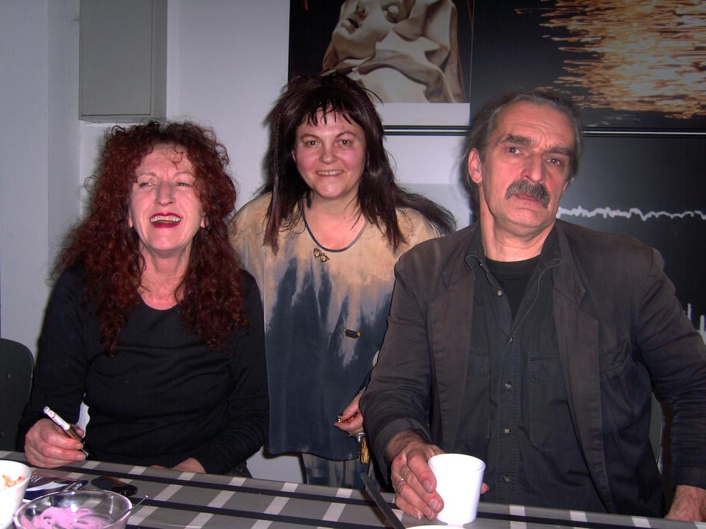 """Paul Hofmann (rechts), Filmvortrag """"Auf der Suche nach bewegten Bildern eines sich verändernden Ruhrgebiets"""", 2005"""