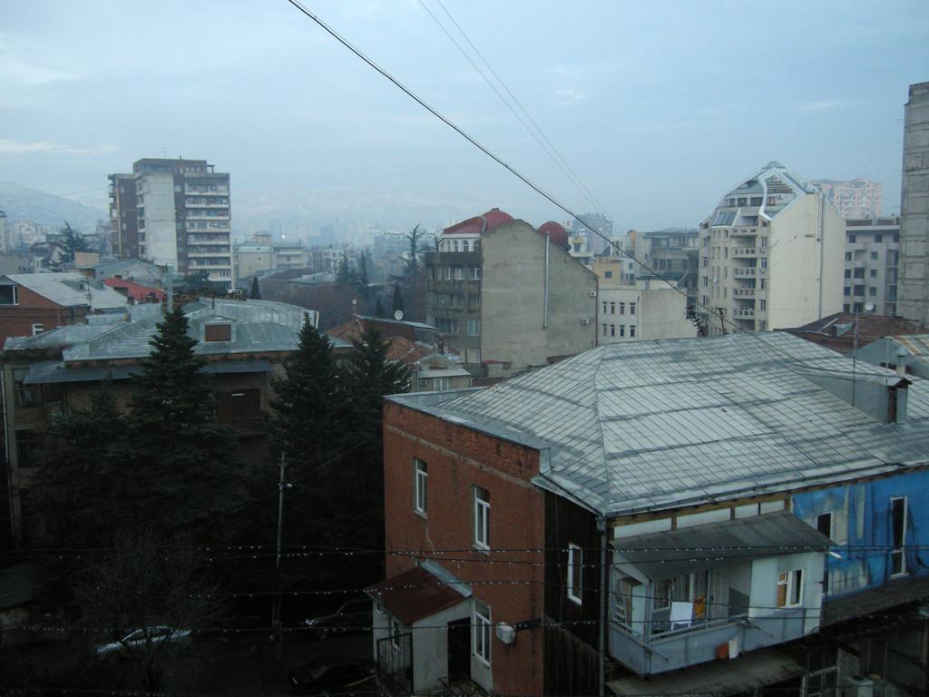 morgendlicher Blick aus dem Fenster