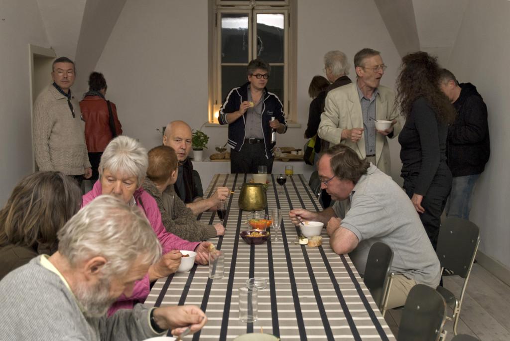 Gespräche in der Künstlerwohnung Doris Schöttler-Boll, 2009