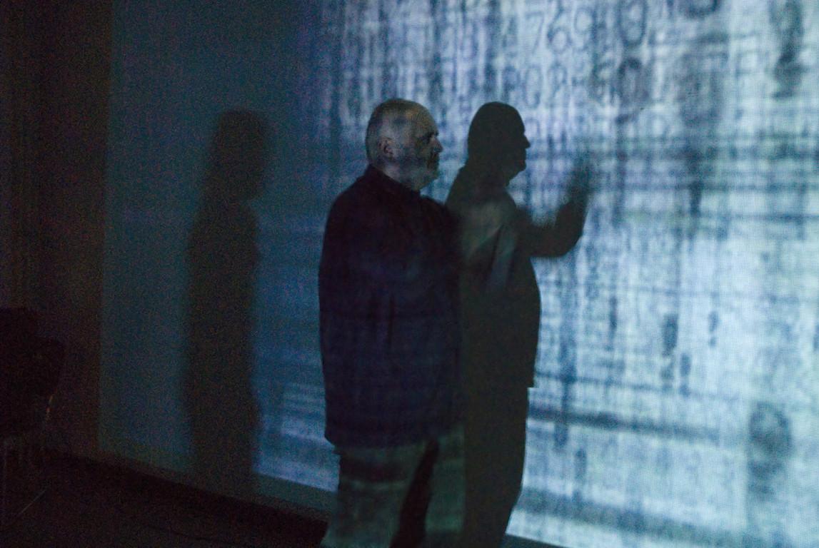 Videoprojektion von Erwin Wiemer, 2008