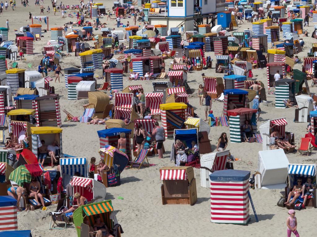 Strandkörbe an der Promenade