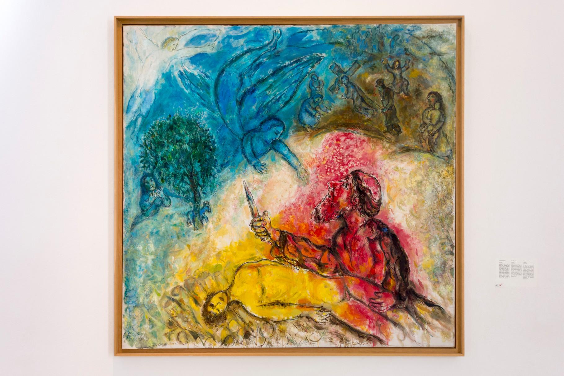Die Opferung Isaaks, 1960-1966, Öl auf Leinwand, 230 x 235 cm