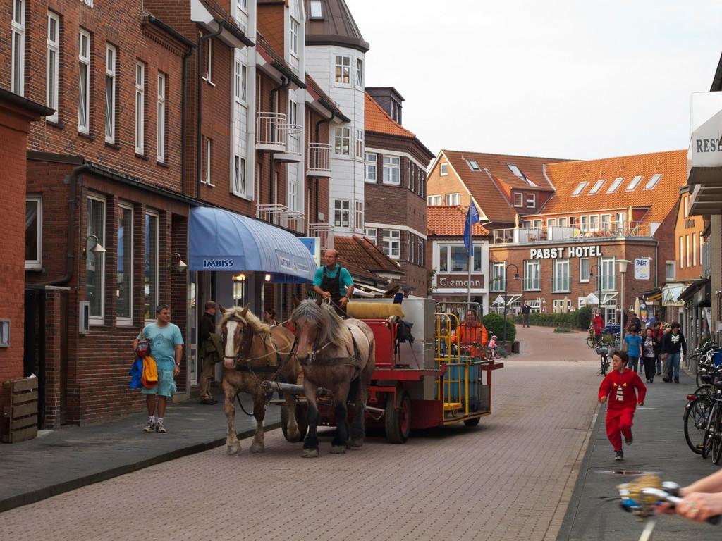 Fuhrwerk auf der Strandstraße