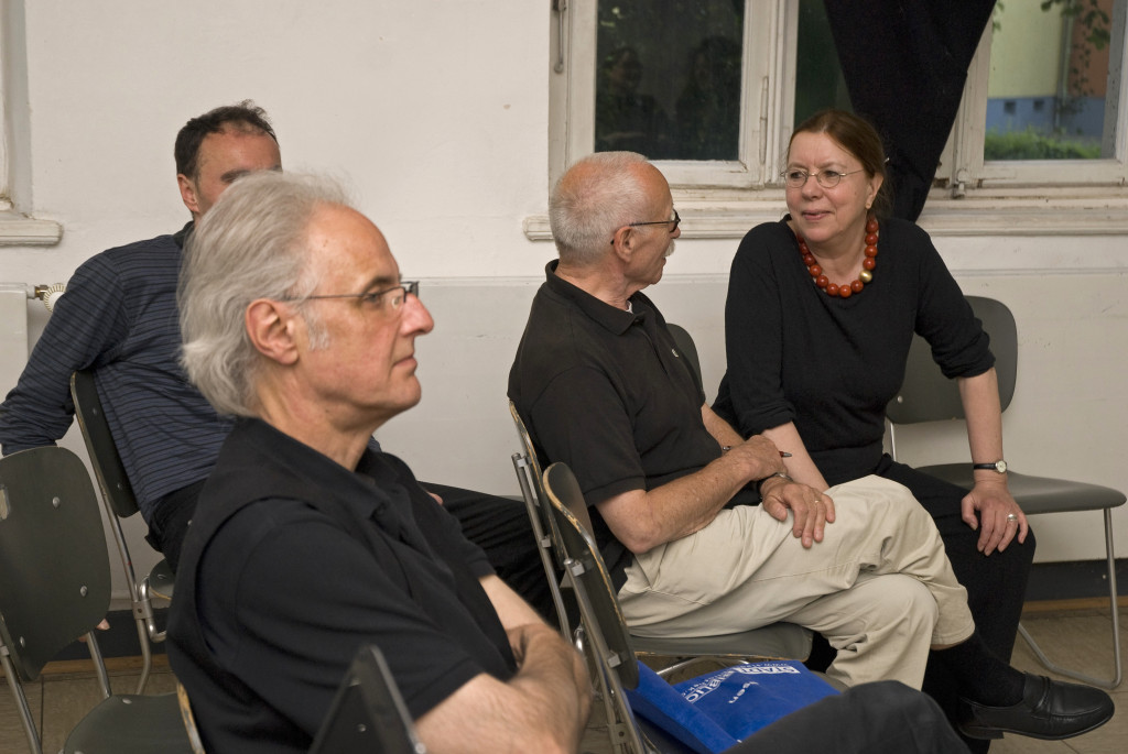 Gespräche vor dem Vortrag