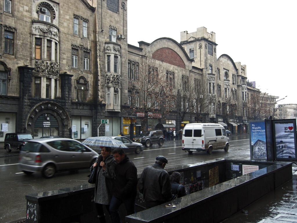 am Rustaveli Boulevard
