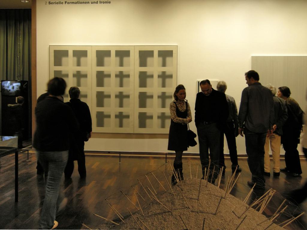 "Gerhard Richter: ""Fenster (Gitter), 1968, Öl auf Leinwand"