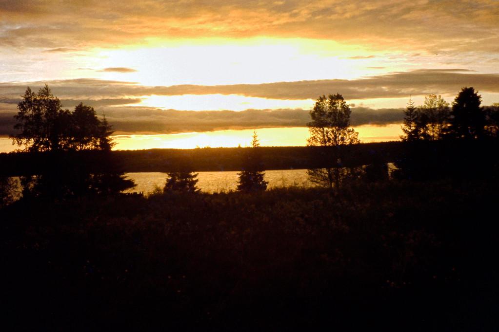 Mitternachtsonne nordlich des Polarkreises